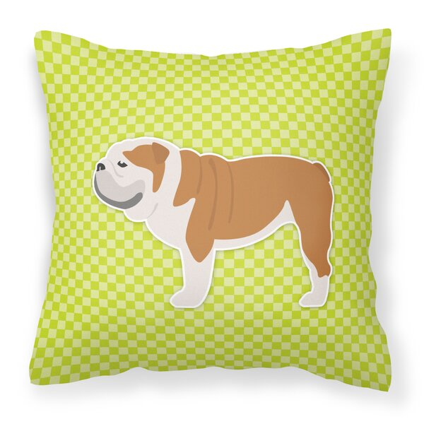 English Bulldog Square Indoor/Outdoor Throw Pillow by East Urban Home