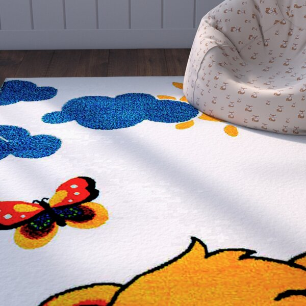 Jodie Kids Lion Yellow/Blue Area Rug by Zoomie Kids