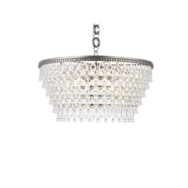 Rutha 6 - Light Unique Tiered Chandelier With Crystal Accents By Greyleigh