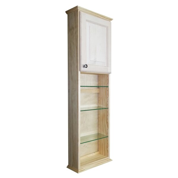 Ashley Series 15.25 W x 49.5 H Wall Mounted Cabinet by WG Wood Products