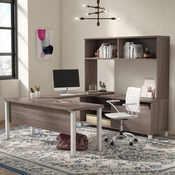 Ariana 4 Piece U-Shape Desk Office Suite by Mercury Row