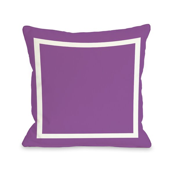 Samantha Simple Throw Pillow by One Bella Casa