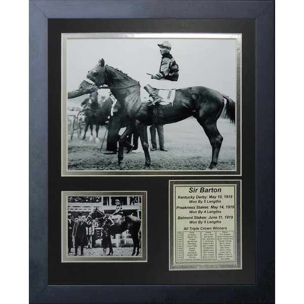 Sir Barton 1919 Triple Crown Winner Framed Memorabilia by Legends Never Die