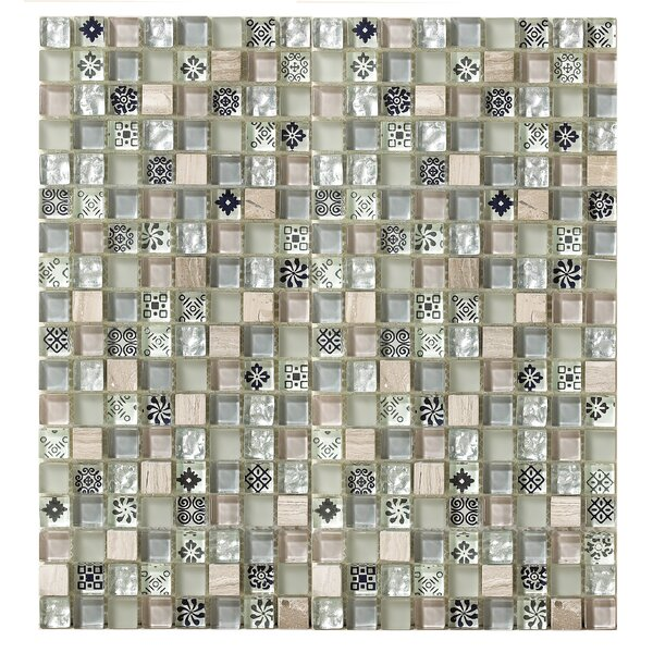 Treasure 12 x 12 Glass Mosaic Tile in Gray Mist by Mohawk Flooring