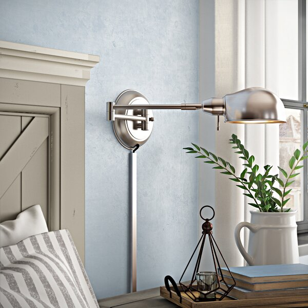 Cordelia Swing Arm Lamp by August Grove