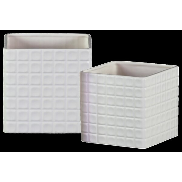 Zana 2-Piece Ceramic Planter Box Set by Ivy Bronx