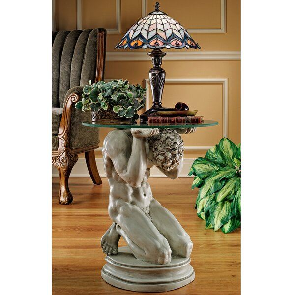 Neoclassical Male Occasional End Table by Design Toscano