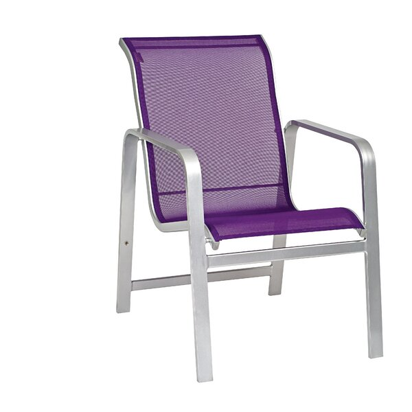 Landings Sling Stacking Patio Dining Chair by Woodard
