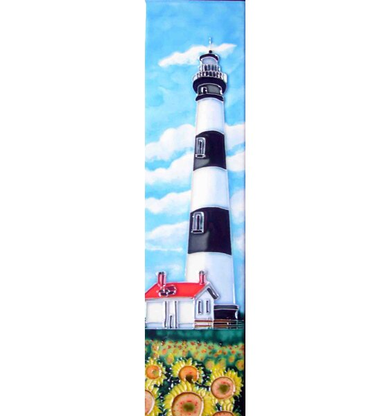 Light House with Sunflower Tile Wall Decor by Continental Art Center