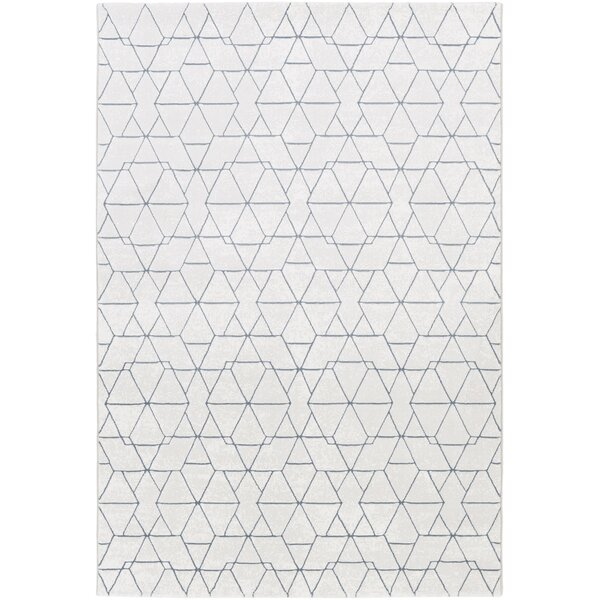 Mcdowell White/Gray Area Rug by Wrought Studio