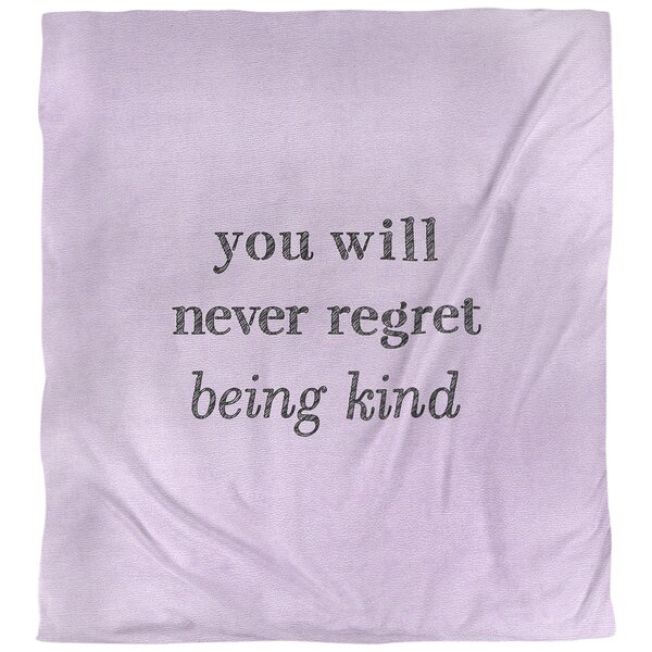 Quotes Handwritten Be Kind Single Reversible Duvet Cover
