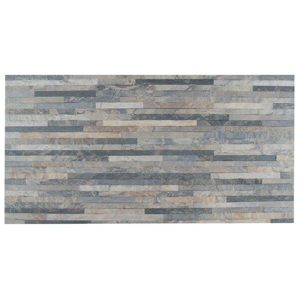 Muro Arriba 12.5 x 24.5 Porcelain Feild Tile in Gray by EliteTile