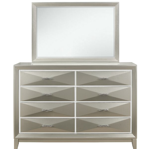 Livermore 8 Drawer Double Dresser with Mirror by Everly Quinn