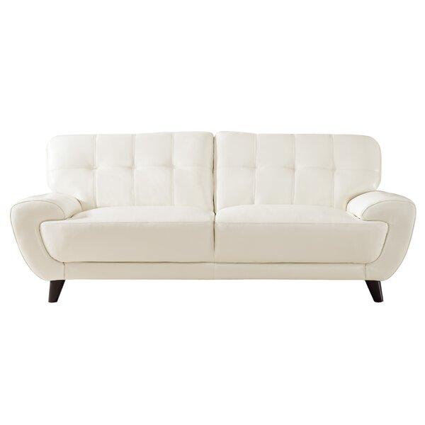 Sterns Craft Leather Sofa by Brayden Studio