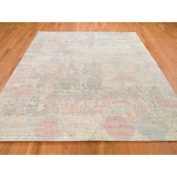 One-of-a-Kind Hand-Knotted Beige 8' x 10'2 Area Rug
