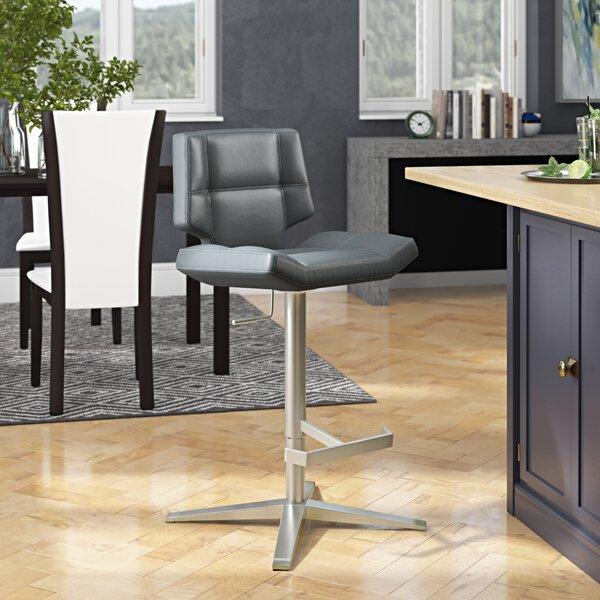 Patchin Swivel Adjustable Height Bar Stool by Brayden Studio Brayden Studio