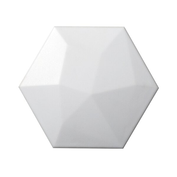 Code Hex High 6 x 7 Ceramic Field Tile in White by Emser Tile