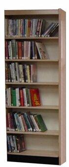 Open Back Single Face Adder Standard Bookcase by W.C. Heller W.C. Heller