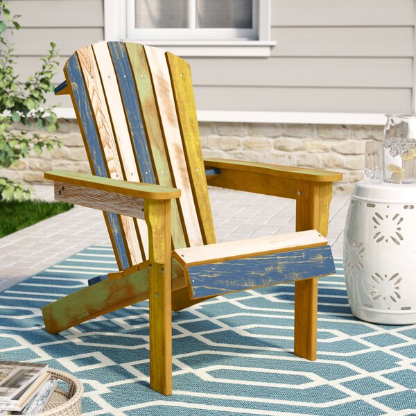 Colunga Reclaimed Solid Wood Adirondack Chair by Highland Dunes Highland Dunes