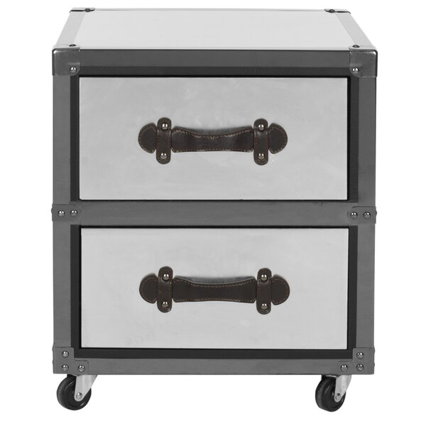 Gage 2 Drawer Rolling Accent Chest by Safavieh