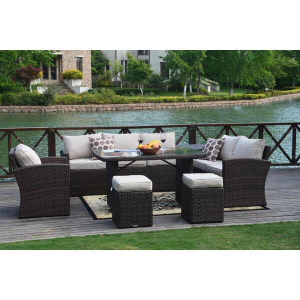 Riedel 7 Piece Rattan Sofa Seating Group with Cushions by Brayden Studio