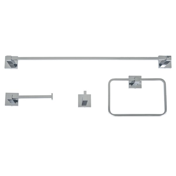 Capri 4 Piece Bathroom Hardware Set by Italia