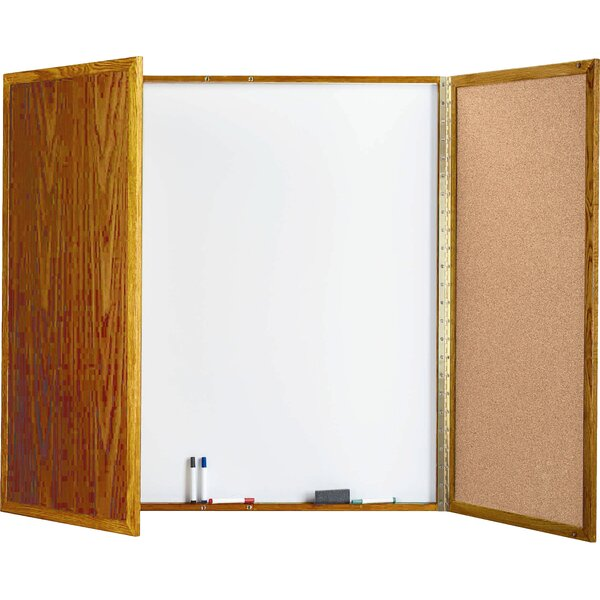 Cabinet Enclosed Whiteboard by AARCO