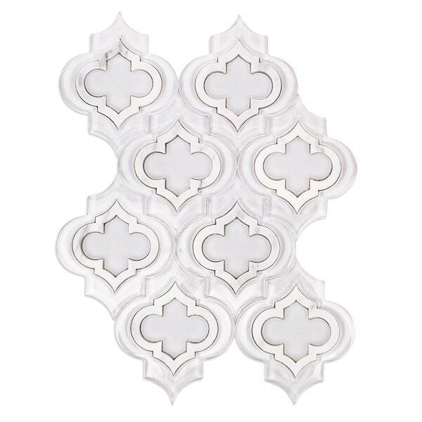 Chelsea Random Sized Marble Mosaic Tile in Super White/Asian Statuary by Splashback Tile