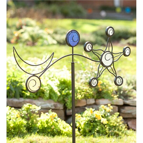 Iron Sun and Moon Garden Stake by Wind & Weather