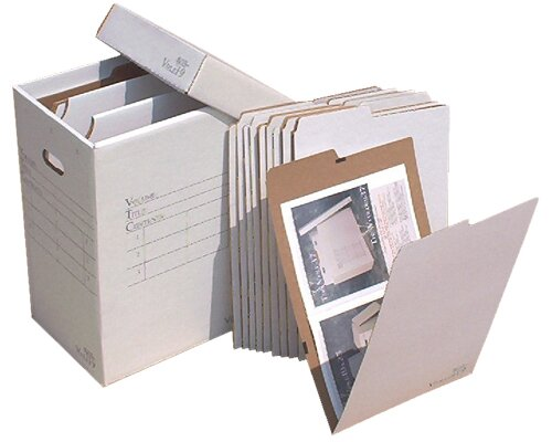 Vertical Flat File System Filing Box by Advanced Organizing Systems