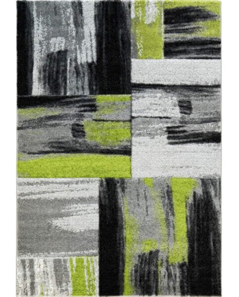 Croskey Abstract Green/Gray Area Rug by Ebern Designs