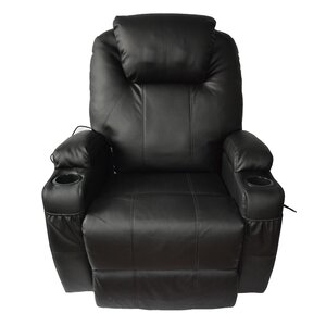Leather Adjustable Massage Chair by Red Barrel Studio