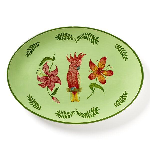 Parrotdise Oval Platter by Lynn Chase Designs