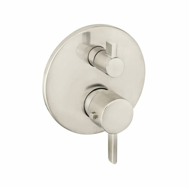 S Thermostatic Volume Control and Diverter Faucet Trim with Lever Handle by Hansgrohe