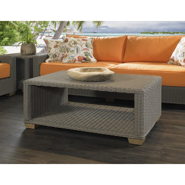 Huck Wicker Coffee Table by Rosecliff Heights