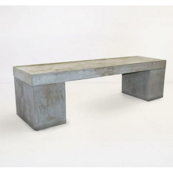 Kennedy Concrete Garden Bench by 17 Stories 17 Stories