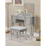 Vioria Vanity Set with Stool and Mirror by One Allium Way