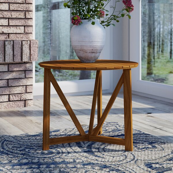 Hollandsworth Solid Wood Side Table by Darby Home Co