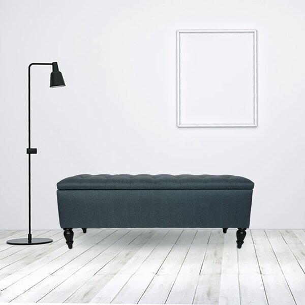 George Upholstered Flip top Storage Bench