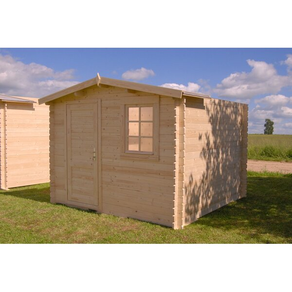 Optima 9 ft. 9 in. W x 9 ft. 9 in. D Wooden Storage Shed by SolidBuild