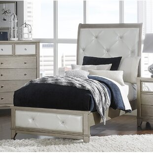 Upholstered Panel Bed by Homelegance