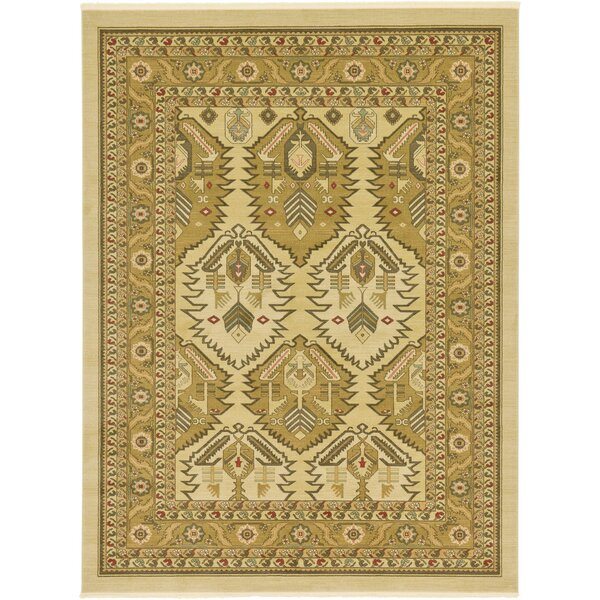 Jana Rectangle Cream Area Rug by Bloomsbury Market