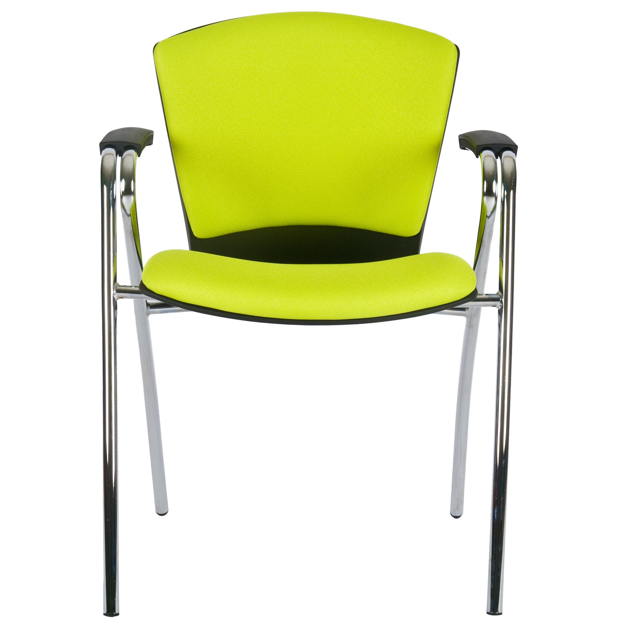 Modern Fabric Upholstered Stacking Guest Chair