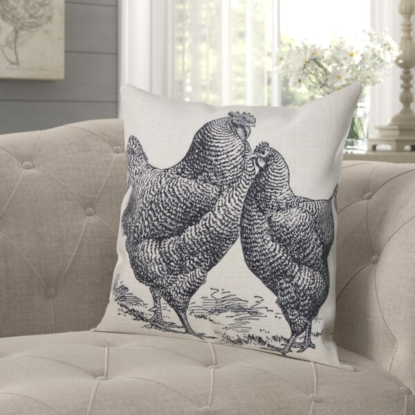 Wyoming Rooster Throw Pillow by Gracie Oaks