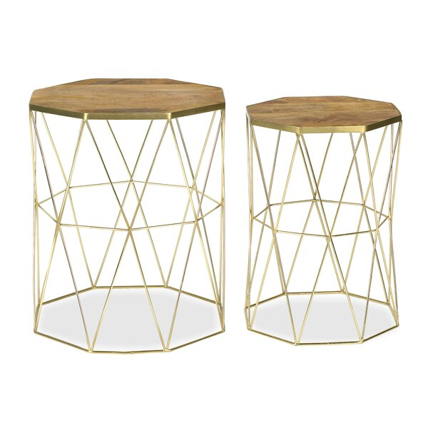 Nevarez 2 Piece Nesting Tables by Ivy Bronx Ivy Bronx