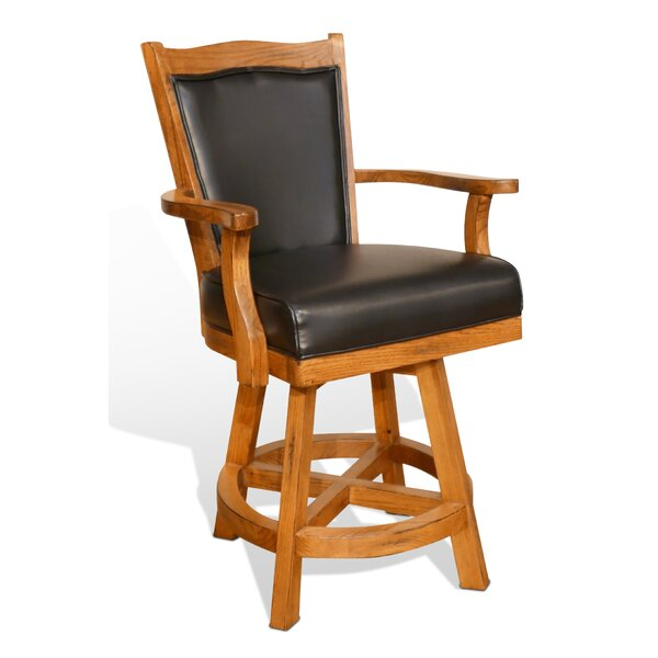 Fresno 24 Swivel Bar Stool by Loon Peak