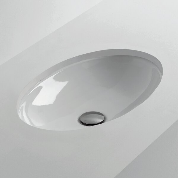 H10 Oval Undermount Bathroom Sink by WS Bath Collections