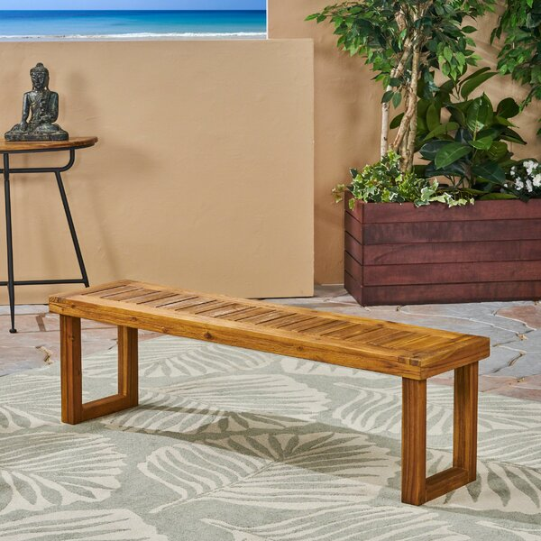 Elaine Wooden Picnic Bench by Millwood Pines
