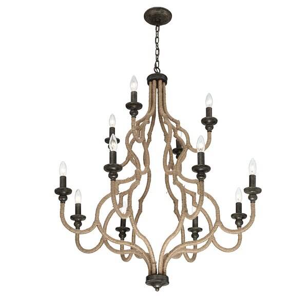 Ito 12-Light Candle Style Tiered Chandelier By Gracie Oaks
