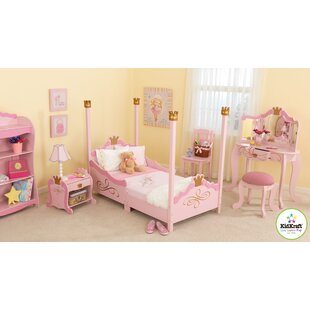 princess toddler four poster configurable bedroom set - Pink Bedroom Set